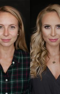 Natural makeup for photos