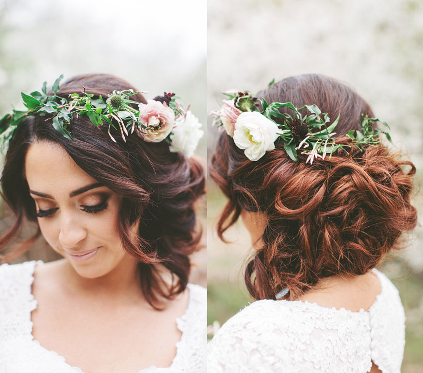 Bridal Updo Flower : Flower crown updo vivian makeup artist
