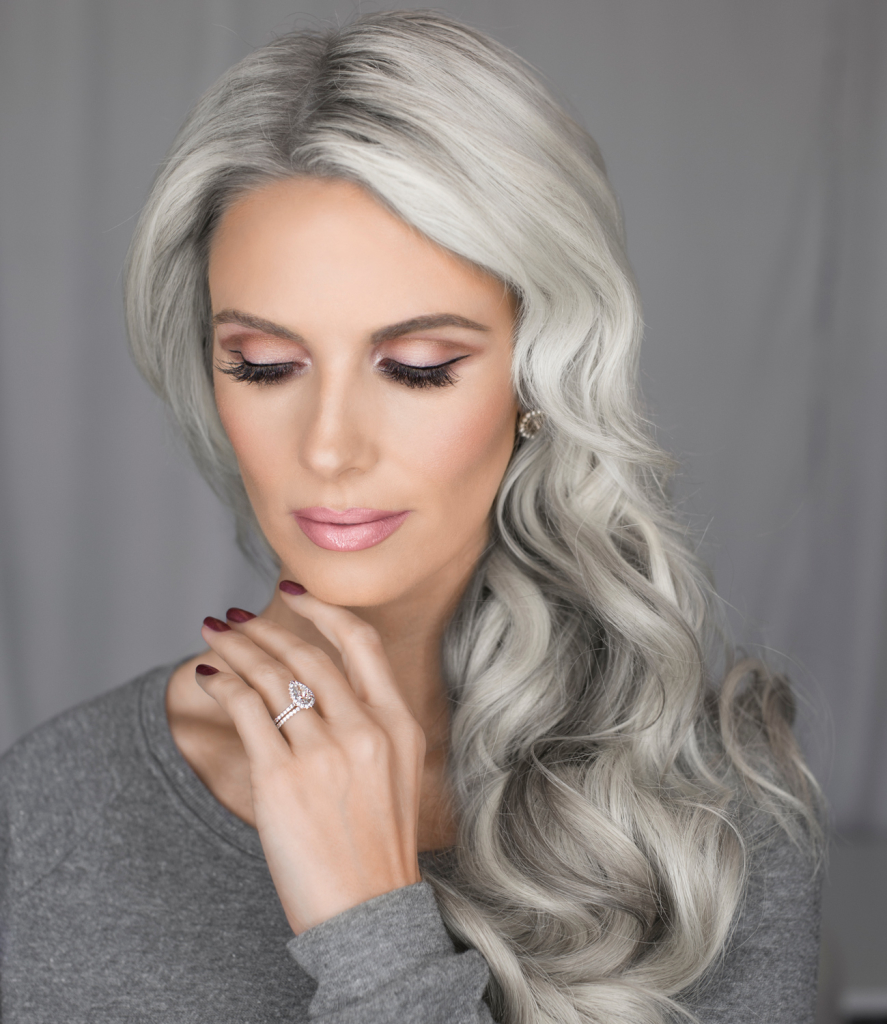 Can silver grey hair with